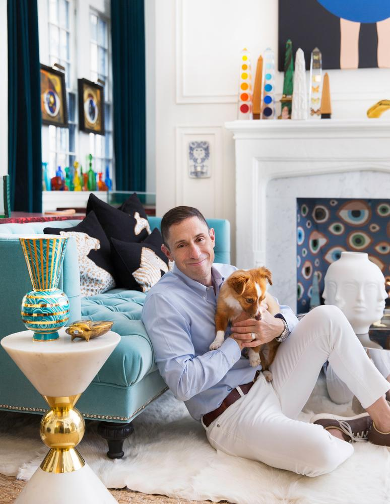 Jonathan Adler photographed in his home in New York on Sept 16, 2015 Published Credit: Juliana Sohn for The Wall Street Journal