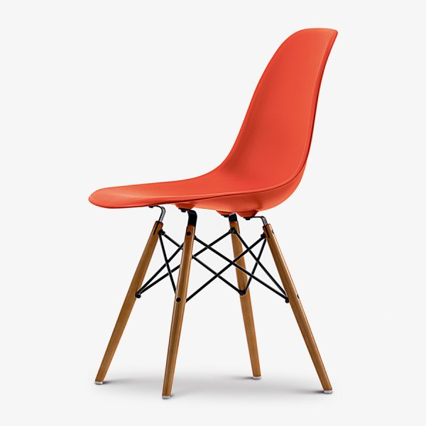 Vitra-DSW-Eames-Plastic-Side-Chair-Yellowish-Maple-Base-Red-Poppy-Red