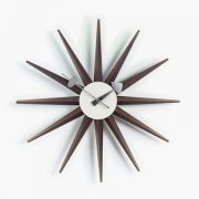Sunburst Clock Walnut_web