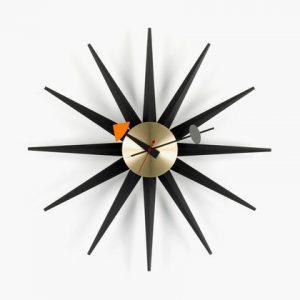 Sunburst Clock black_web