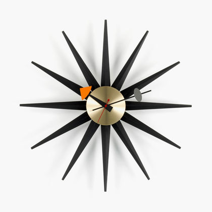 Sunburst Clock black_web