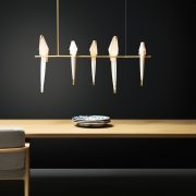 Moooi-Perch-Light-Branch-LED-Pendelleuchte-Messing–weiss-Ambiente