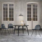Semi_pendant_-_large_-_chrome_Gubi_dining_table_-_round_-_black_Gubi_1F_chairs_-_black_1024x1024