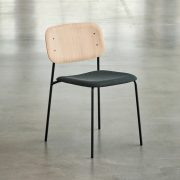 Soft Edge 10 Chair Base black Back clear lacquered oak Seat Uph Remix 173
