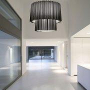 Pendant lamp / contemporary / fabric / incandescent